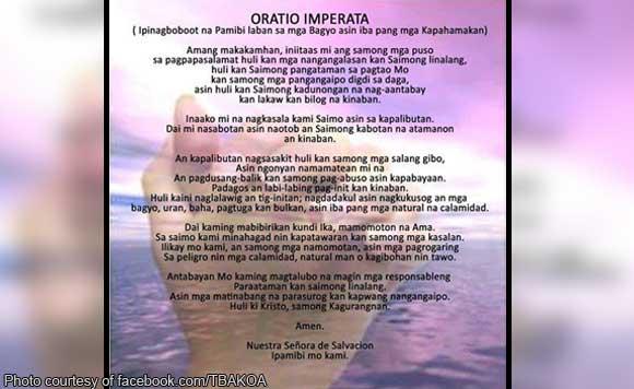Idaan sa dasal: Bishops urge Oratio Imperata in Albay amid